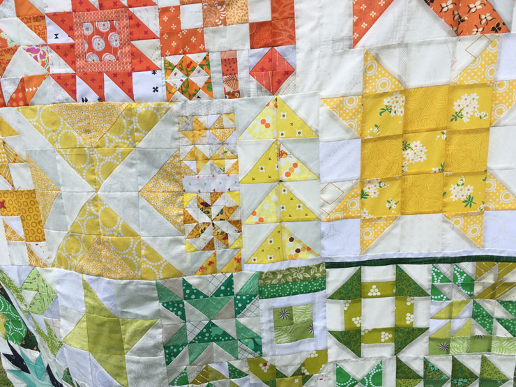 Rainbow Sampler Quilt from Hugs are Fun