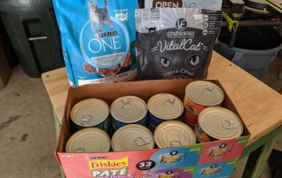 Donations delivered to a foster