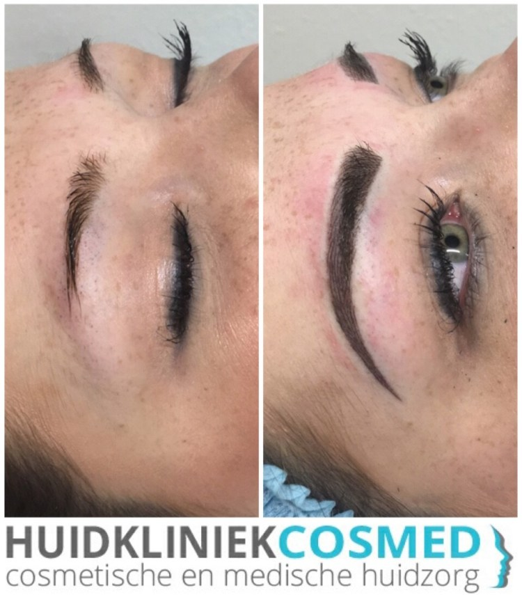 Permanente make-up (PMU) Hybrid (ombre icm hairstrokes)