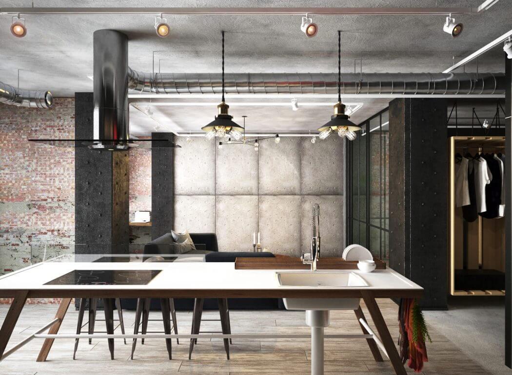 Woonkamer Industrieel Inrichten : Industriele moderne woonkamer home jolandaknook nl