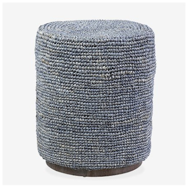 surfside round ottoman table gray