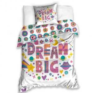 Carbotex dekbedovertrek Dream Big 140 x 200 cm multicolor