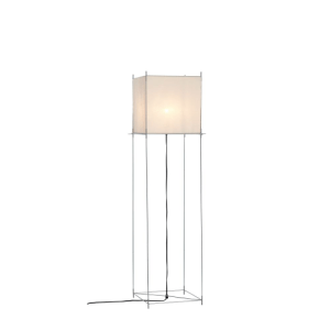 Hollands Licht Lotek Classic Vloerlamp - Alu frame - Wit doek