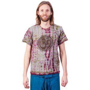 Boeddistisch T-Shirt ohm print, Nepal maat M/L - L