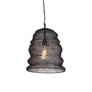 Oosterse hanglamp zwart - Nidum Garza