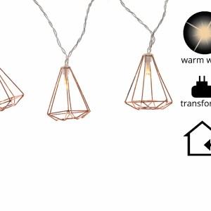 Led Kerstverlichting Diamant 12 lampjes Warm wit