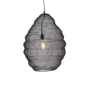 Oosterse hanglamp zwart 45 cm - Nidum