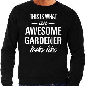 Awesome gardener / hovenier cadeau sweater zwart heren