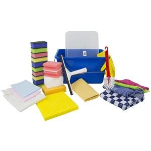 Compleet schoonmaak pakket / schoonmaakartikelen in handige bewaar emmer -