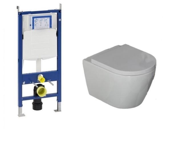 Geberit UP320 toiletset met Saniclear Jama Compact randloos wandcloset incl softclose zitting 48cm diep