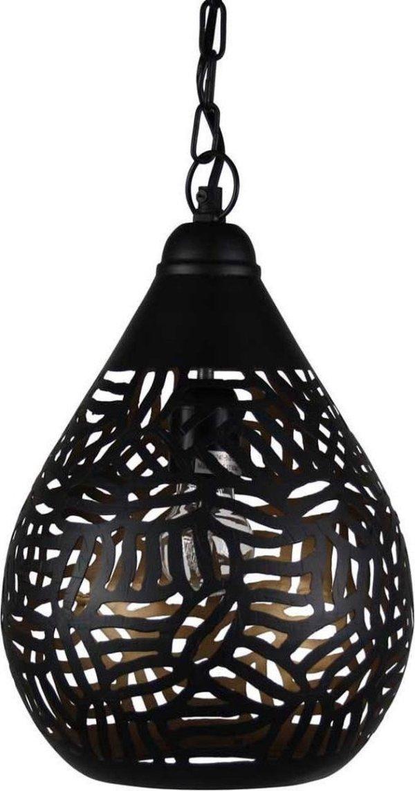 Oosterse Hanglamp Zebra Jawahir Zwart Goud Ø 22 x 33cm Handgemaakt