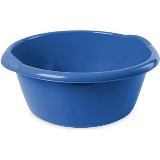 Rond afwasteiltje/emmertje blauw 6 liter 32 x 12,5 cm schoonmaakartikelen