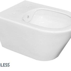 Saqu Wandcloset 35,5x53 cm Rimless met bidet-functie Wit