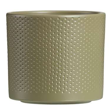 Bloempot Chris - groen - 12,5x13,5 cm - Leen Bakker