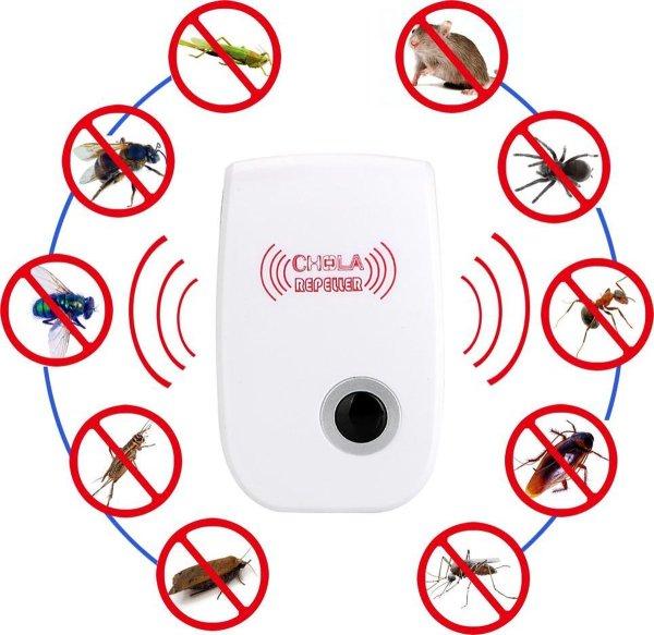 Ongediertebestrijder - muggenoverlast - muizenbestrijder - anti muis - anti spin - anti ongedierte - lamp - geluidsgolven - pest control - pest repeller - anti rat - anti steenmarter - steenmarter verjagen