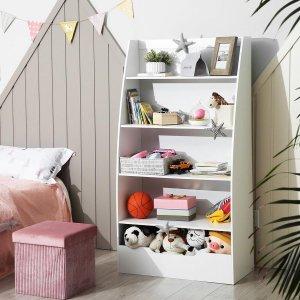 Decopatent® Speelgoed Kast - Boekenkast voor kinderen - Opbergkast van hout voor kinderkamer - Kinderkamerkast - Boekenrek - Kast