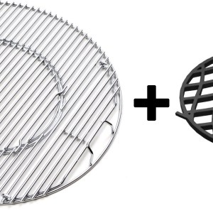 2 in 1 Aanbieding Set: Barbecue systeem rooster + Cast Iron Sear Grate