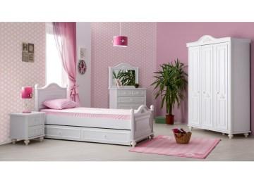Bed Voor Kinderkamer.Kinderkamer Set Romantic Twijfelaar Meisjes Bed 200 X 120 Kinderkamer