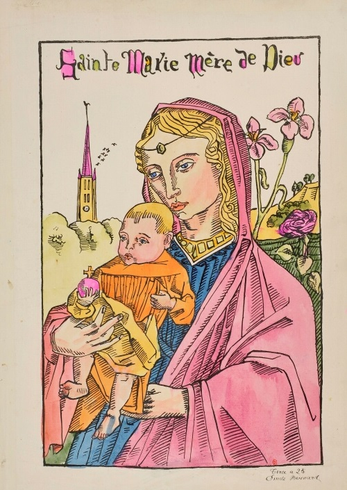 Maria met lelie