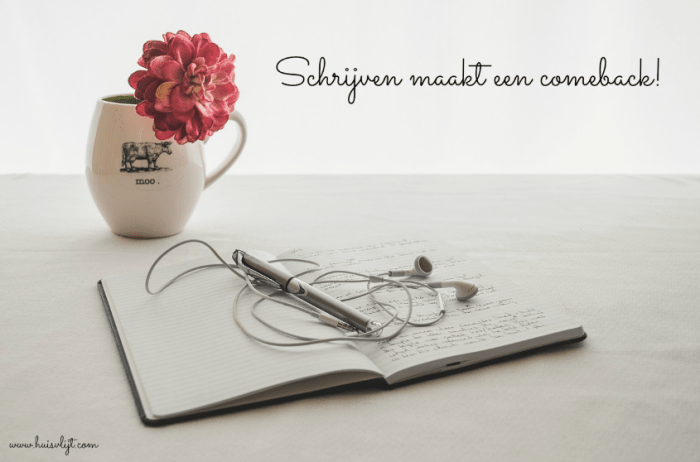 schrijven maakt comeback