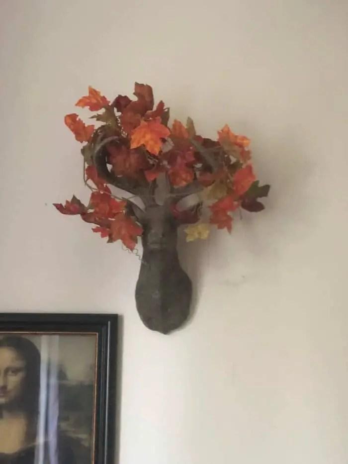 Mijn hertenkop heeft de herfst in het hoofd!