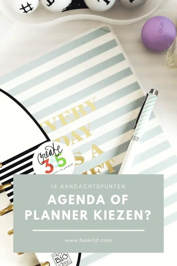 agenda of planner kiezen