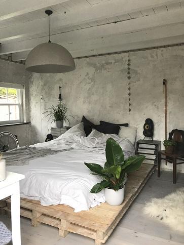 De industriële slaapkamer van Instagrammer @jellinadetmar
