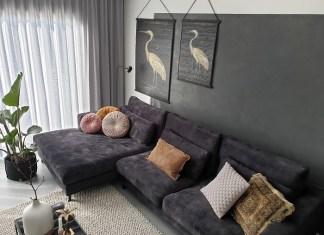 loungebank carmen room108 zwart velvet
