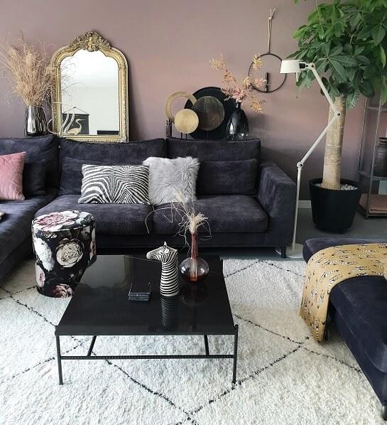 woonkamer met kleur