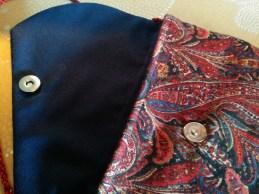 Sac bandoulière asytmétrique motif cashmere