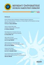 Beykent Üniversitesi Hukuk Fakültesi Dergisi