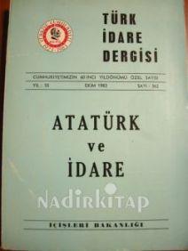 Türk İdare Dergisi Atatürk Özel Sayısı