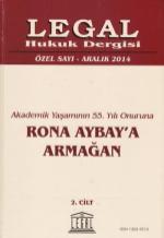 Rona Aybay Armağanı - Legay Yayınevi