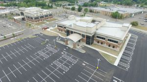 aerial view of a new parking lot - aerial-view-of-a-new-parking-lot