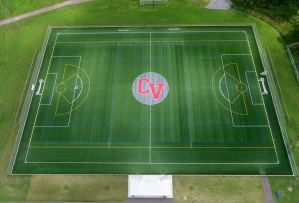 aerial view of a soccer field - aerial-view-of-a-soccer-field