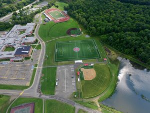 aerial view of school sports fields - aerial-view-of-school-sports-fields
