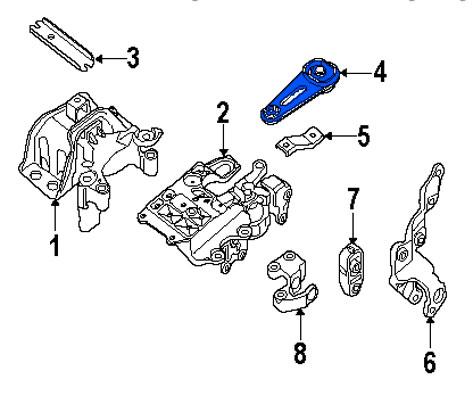 Soporte de Motor Torsion Trasero Nissan Sentra 2007