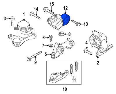 Soporte de Motor Torsion Trasero Mazda CX7 CX9