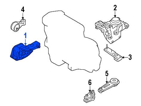 Soporte de Motor Frontal Derecho Nissan Renault Sentra Se