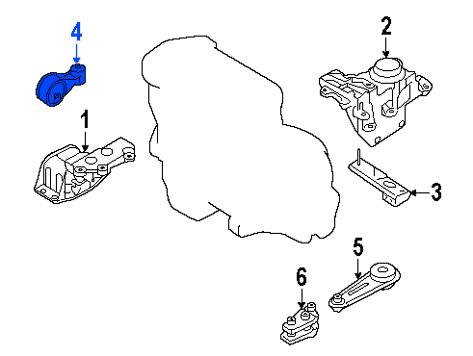 Soporte de Motor Derecho Superior Nissan Renault Sentra Se