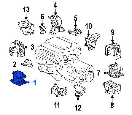 Soporte de Motor Frontal Electro-Hidraulico Honda Odyssey