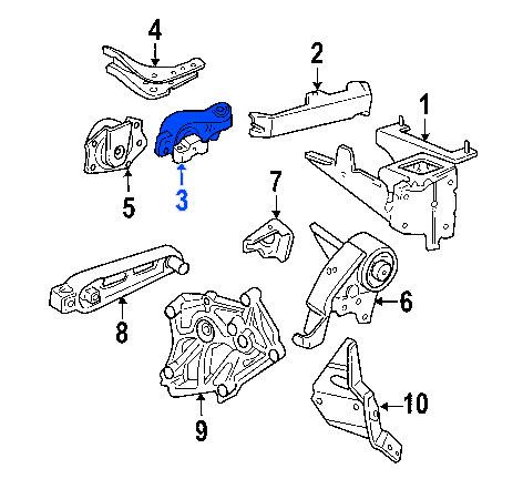 Soporte de Motor Derecho Superior Dodge Neon 2000
