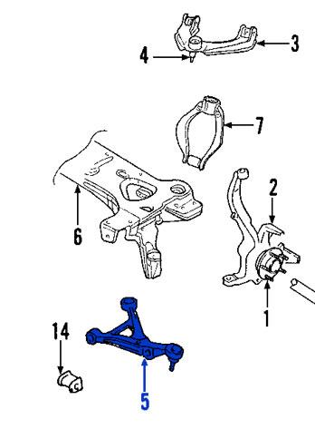 Bujes de Horquilla Inferior Chrysler Dodge Cirrus Stratus