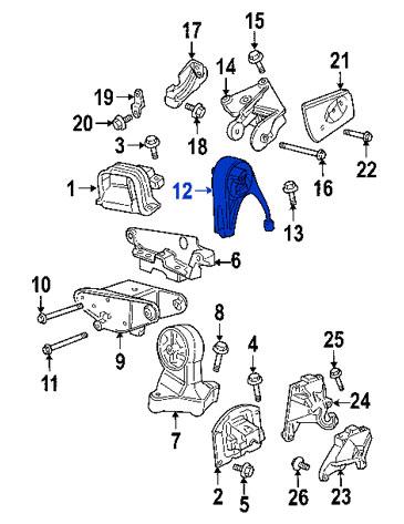 Soporte de Motor Trasero Chrysler Dodge Cirrus Sebring