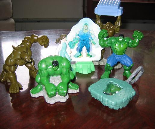 burger king hulk toys