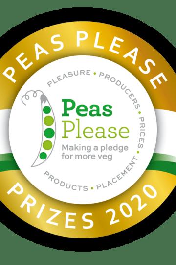 Peas Please gold medal award.