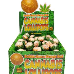 Cannabis Lollipops -Bubblegum x Orange Bud