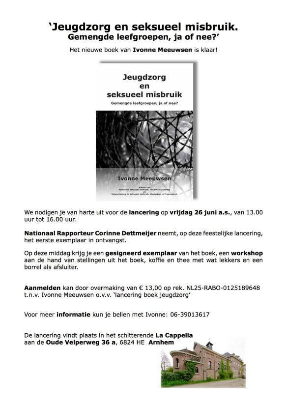 uitnodiging boeklancering 'Jeugdzorg en seksueel misbruik'