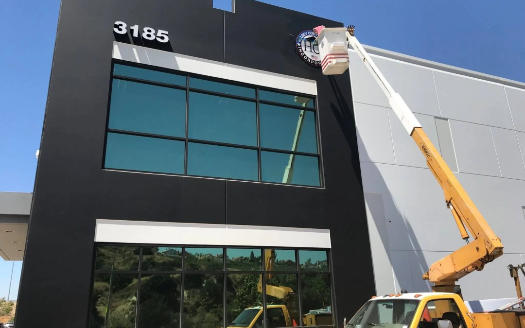 Hulsey Contracting Inc Corona CA, Office Sign Installation
