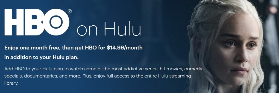 HBO Now on Hulu